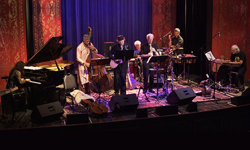 Mariah Parker's Indo Latin Jazz Ensemble performing at the Throckmorton Theatre, Mill Valley