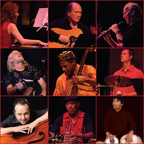 Photo collage of all musicians on Indo Latin Jazz live in Concert